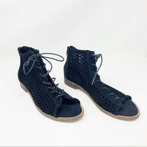 Musse & Cloud Zoe's Lace-Up Open Toe Sandals 10